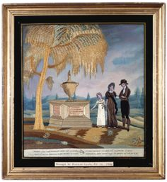 Mourning Picture, Hannah Clapp, Massachusetts, dated 1809