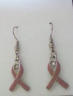 Breast Cancer Awareness earrings by LambertCreations26 on Etsy, $4.50