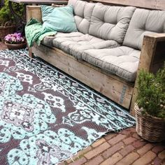 Cool seasons outdoor orion loungeset delig teakzwart for Tuinposters intratuin