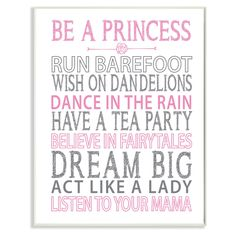 Stupell Decor Be a Princess Wall Plaque Art - BRP-1757_WD_10X15