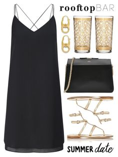 """""""Summer Date: Rooftop Bar"""" by lgb321 ❤ liked on Polyvore featuring Miss Selfridge, Prada, Waterford, Tory Burch, A.P.C., fashionset, summerdate and rooftopbar"""