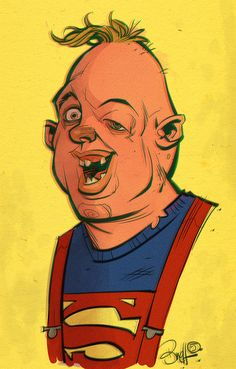 PLANET-PULP // CELEBRATING PULP CULTURE: Sloth | Illustrator: Brett Parson #goonies #80s #popculture