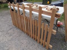 Western Red Cedar picket fencing, grown and made in West Sussex