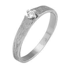 Pierścionek z białego złota z brylantem o masie 0,04 ct. Próba 0,585 Engagement Rings, Jewelry, Enagement Rings, Wedding Rings, Jewlery, Jewerly, Schmuck, Jewels, Jewelery