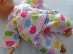 Dolls Clothes Elephant Pyjamas to fit 30cm (12inch) baby dolls ELC Cupcake  £4.99
