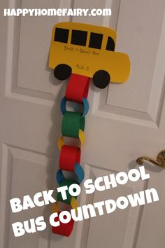 Back to School Bus Paper Chain Countdown. Never thought to make a paper shape for the top of the chain. Cute