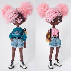 Hergestellt von Mint Bunny - Amigurumi - Amigurumi Tips Crochet Hook Set, Cute Crochet, Easy Crochet, Knit Crochet, Crochet Doll Pattern, Crochet Patterns Amigurumi, Amigurumi Doll, Knitted Dolls, Crochet Dolls