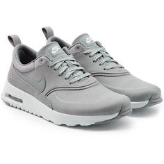 reputable site 26efe e9b9f Nike Air Max Thea Premium Leather Sneakers ( 115) ❤ liked on Polyvore  featuring shoes, sneakers, grey, nike shoes, gray shoes, leather shoes, ...