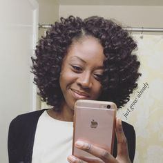 Crochet braids with Jamaican Bounce hair Hair Care Techniques You Should Use To Grow Long…Crochet hairstyle using Jamaican bounce hair againBraiding Hair Bouncy Curl / Toni Curl Pre-loop… Curly Crochet Hair Styles, Crochet Braid Styles, Crochet Braids Hairstyles, Weave Hairstyles, Curly Hair Styles, Natural Hair Styles, Black Hairstyles, Crotchet Styles, Protective Hairstyles
