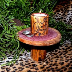 Shelf Candles - Rustic Woodland Wedding Candle with shelf -  Etsy.