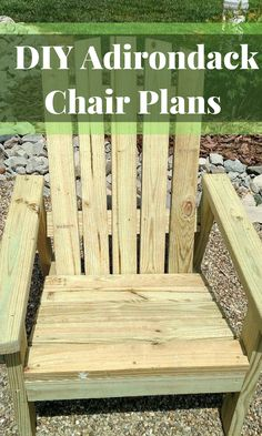 DIY Adirondack Chair Plans - Simple Plans for a Comfortable, Beautiful and Inexpensive Patio, Backyard, or Fire Pit Chair #diy ##adirondack #adirondackchairs #diychair #outdoorideas #outdoorchairs #frontporch #homedecor #diy #affiliate