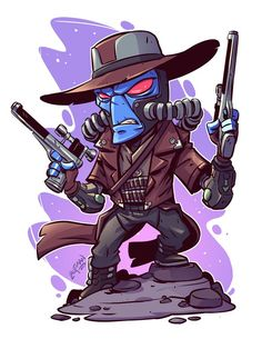 Here is the final art for Cad Bane. I'll have a new Clone Wars print pack in my online store soon. Cartoon Drawings, Cartoon Art, Cute Drawings, Chibi Marvel, Marvel Art, Star Wars Fan Art, Logo Super Heros, Cad Bane, Star Wars Cartoon