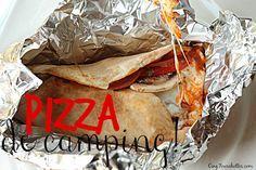 pizza sans vaisselle -pour le camping! du blog cinq fourchettes