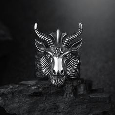 Goat Ring Goat Head Ring  Price: 12.00 & FREE Shipping  #nature #girls #apparels #cute #love #wedding #party #beauty #fashion #animals