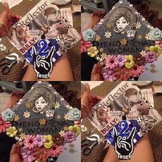 DIY black queen graduation caps 2016