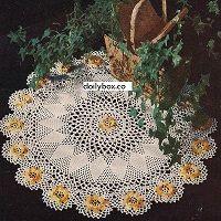Free Crochet  Ivy Rose Doily Pattern