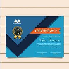 Modern Premium Company Certificate Of Achievement And Appreciation Template With Logo Certificate Of Appreciation, Certificate Of Achievement, Award Certificates, Award Template, Certificate Design Template, Background Design Vector, Create Website, Company Names, Presentation