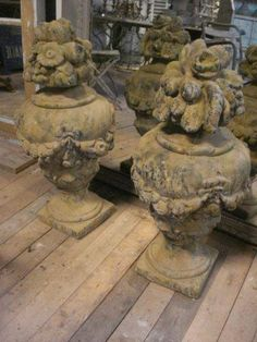 antique French garden finials