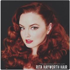 Rita Hayworth Hair Tutorial