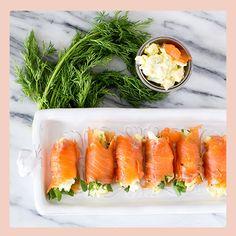 Smoked Salmon and Egg Salad Rolls