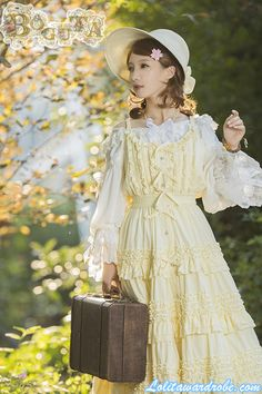 Boguta -Hello! Heidi- Classic Lolita Jumper Dress Princess Daisy Costume, Cosplay Dress, Anime Cosplay, Anime Hair, Pastel Yellow, Jumper Dress, Lolita Dress, Visual Kei, Lolita Fashion