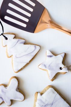 Marble Christmas Spiced Tree Biscuits Recipe | Chalk Kids Blog