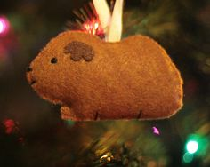 Cute Felt Guinea Pig Ornament