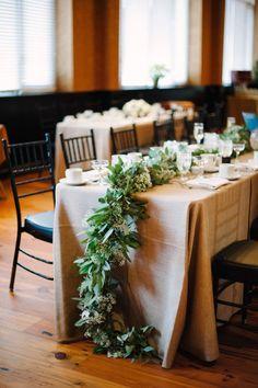 Winter wedding table: http://www.stylemepretty.com/pennsylvania-weddings/lancaster/2014/10/15/snowy-winter-wedding-in-pennsylvania-at-the-cork-factory-hotel/   Photography: Caroline Frost - http://carolinefrostphotography.com/