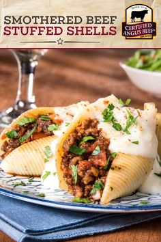 Pasta recipes for dinner beef stuffed shells 70 super Ideas Stuffed Shells Beef, Stuffed Shells Recipe, Pasta Dinner Recipes, Pasta Dinners, Best Beef Recipes, Ground Beef Recipes, Healthy Eating Recipes, Cooking Recipes, Jumbo Pasta Shells