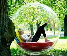 Imagine reading outside in a Cocoon - there is no fear of the rain. Cocoon bubble is a perfect reading nook . Cool Ideas, Creative Ideas, Cocoon, Outdoor Living, Outdoor Decor, Outdoor Seating, Outdoor Sofa, Indoor Outdoor, Cool Inventions