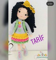 No photo description available. Amigurumi Toys, Crochet Hats, Dolls, Pattern, Handmade, Instagram, Fashion, Amigurumi Doll, Crochet Dolls