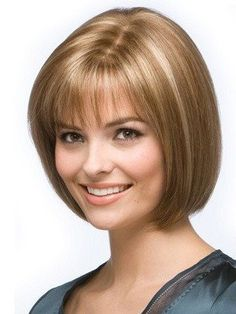 Easy Blonde Straight Short Hair Chin Length Wigs,JFW0006