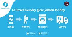I applikasjonen eller på våre hjemmeside kan du velge ønskede plagg og artikler du vil ha rengjort, samt når du vil ha det hentet og når du vil ha det levert tilbake.  Last ned appen nå:  Ios-http://apple.co/2qRMUaF Android-http://bit.ly/2qS82NZ #smartlaundry #levering #vasker #renser