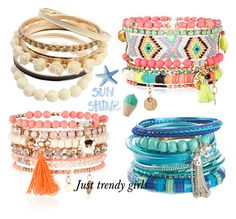 bangles by justtrendygirls on Polyvore featuring Monsoon, Accessorize, INDIE HAIR and Juicy Couture