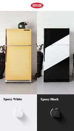 Cold drinks belong in an even cooler container. If your old refrigerator feels a little out of date, freshen things up with a few coats of Appliance Epoxy. Krylon Colors Used: Appliance Epoxy White, Appliance Epoxy Black.