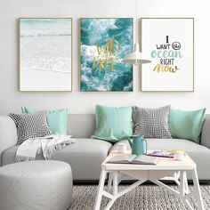 Living Room Paint Art - Wall Art Canvas Painting Seascape Posters And Prints Cuadros Decoracion Wall Pictures For Living Room Nordic Poster Unframed. Room Design, Living Room Paint, Wall Decor Living Room, Room Wall Art, Living Room Diy, Home Decor, Living Room Art, Living Room Pictures, Rustic Living Room