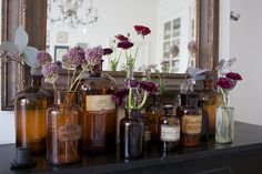 Vintage Apothecary Jars.