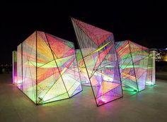 hou de sousa's iridescent prismatic installation in georgetown frames a myriad of perspectives - Contemporary Art Interaktives Design, Interior Design, Modern Art, Contemporary Art, Contemporary Architecture, Architecture Design, Light Art Installation, Art Installations, Art Public