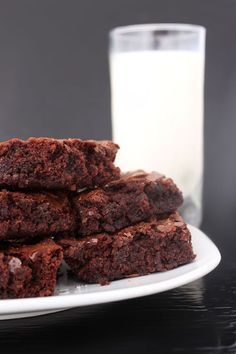 """Every once in a while the craving for brownies really hits us hard… the warm, chocolatey goodness as you pull them out of the oven and the perfect impatience of waiting for them to cool (if you can restrain yourself for that long). Even though brownies will never be considered """"nutritious,"""" we've found a recipe that's a step in the right direction; a healthier recipe for brownies that doesn't sacrifice flavor and uses healthier ingredients."""