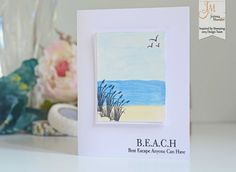 Inspired by Stamping, Joanna Munster, Seaside stamp set, Seaside Sentiments stamp set, thinking of you card (8)