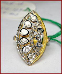 1.02ct ROSE/ANTIQUE CUT DIAMOND VICTORIAN LOOK RING #BridalAntiqueJewels