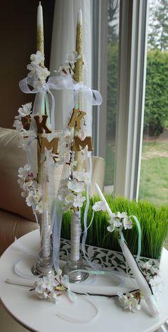Vintage White and Gold Greek Wedding Lambades