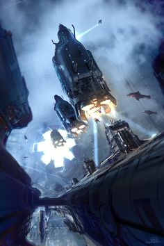 Halo 4 Concept Art  Sci-fi Art by Nicolas Bouvier, United States. Tools: Photoshop