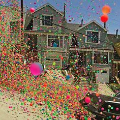 250000 balls down the streets of San Francisco.