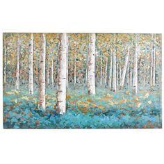 Luxe Teal Birch Tree Art | Pier 1 Imports