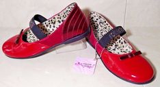 #ROBERTO #CAVALLI #Brand New $180 Girls Youth #Winter Shoes Red Ballerinas 2017 RARE #RobertoCavalli #BallerinasMaryJaneStyle #Party