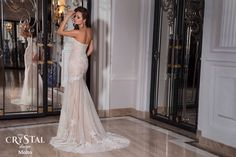 Crystal Design style Molto. #glamorousdress #bestdress #weddinggown #gown #fashion #wedding #style #dress #newcollection