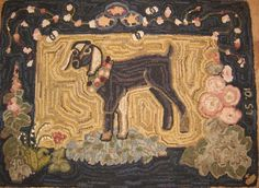Tasha's Goat  Designed and Hooked  by Laura Schulze, on my list of rugs I'd love to make!