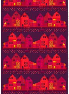 Vanhakaupunki fabric, design Sanna Annukka for Marimekko