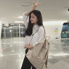 Image about girl in 아시아 사람 by RN on We Heart It Ulzzang Korean Girl, Ulzzang Couple, Ulzzang Fashion, Korean Fashion, Hwa Min, Korean Makeup Tutorials, Korean People, Thing 1, Pretty Asian
